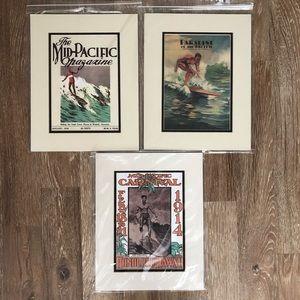 Hawaiian Magazine Prints - Set of 3
